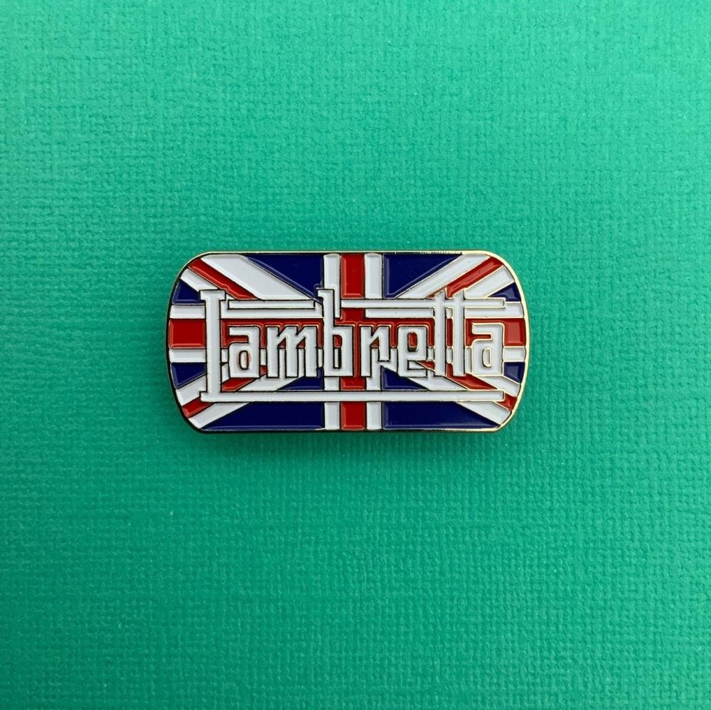 Lambretta Union Jack Enamel Pin Badge #0059