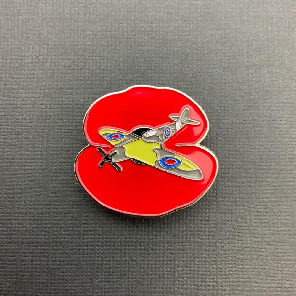 Spitfire Enamel Metal Pin Badge #0076