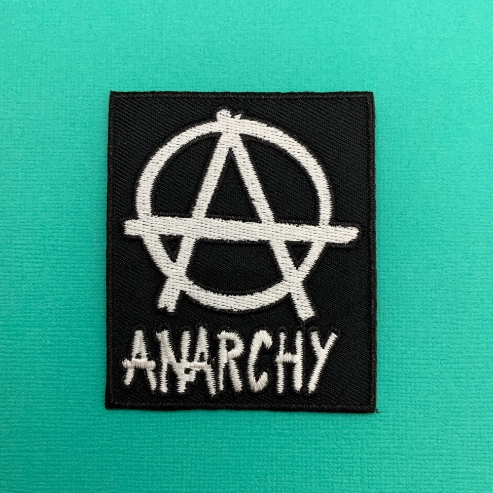 ANARCHY Fabric Embroidered Biker Patch #0104
