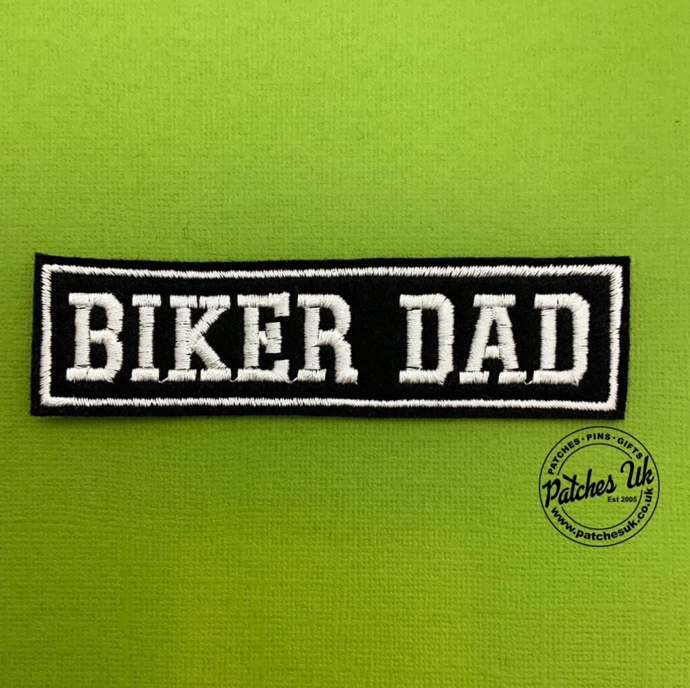 Biker Dad - 1 line felt patch #0017