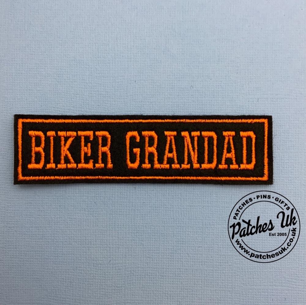 Biker Grandad - 1 line felt patch #0065