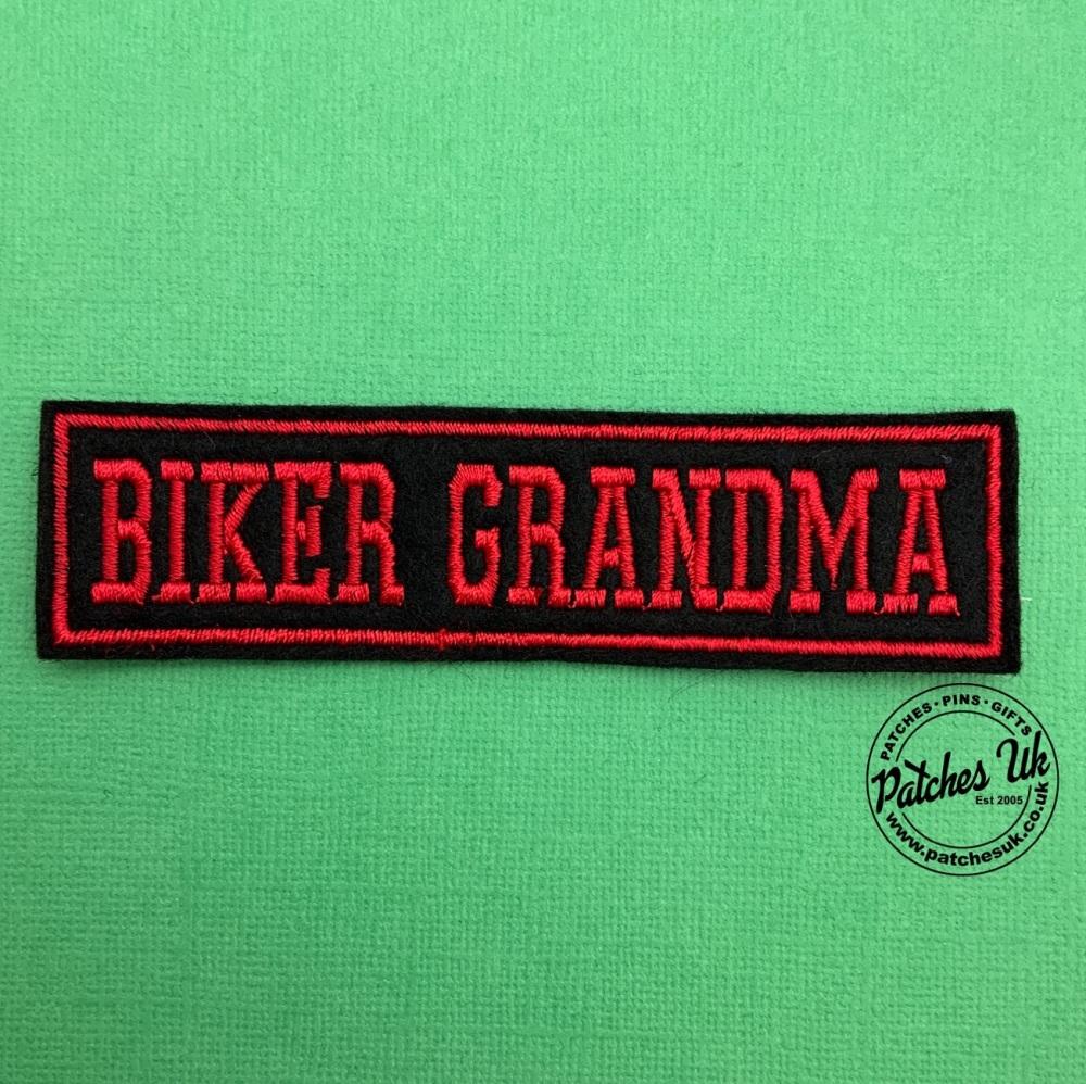 Biker Grandma - 1 line felt patch #0022