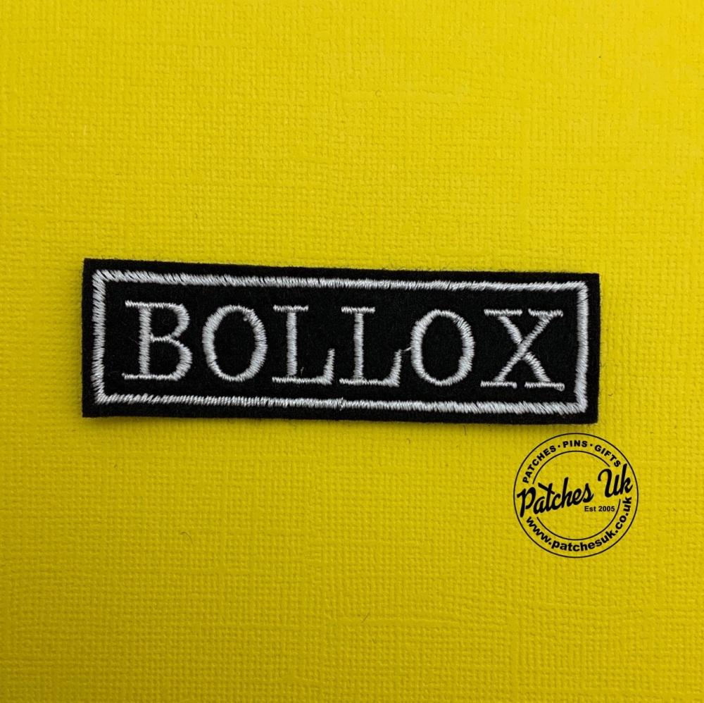 Bollox  - 1 line felt patch #0025