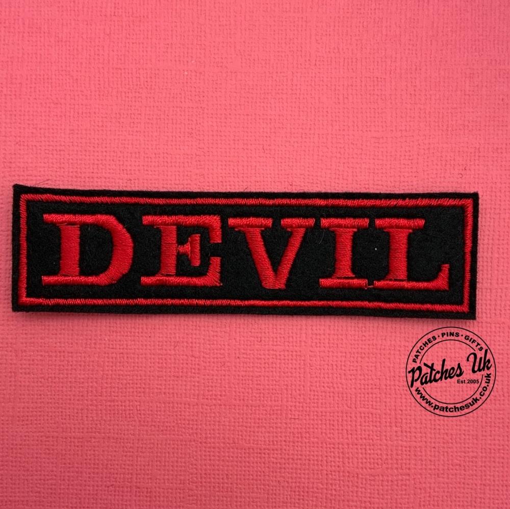 DEVIL - 1 line felt patch #0034