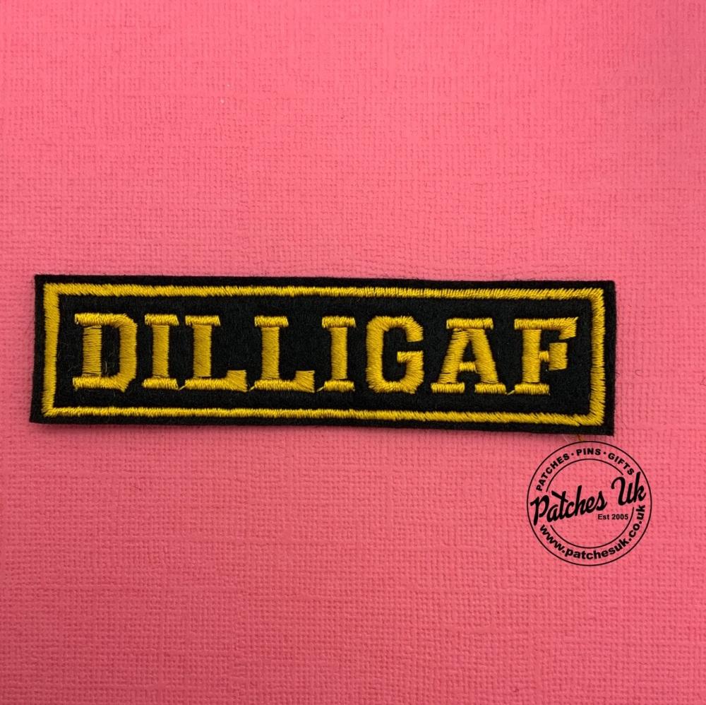 Dilligaf - 1 line felt patch #0019
