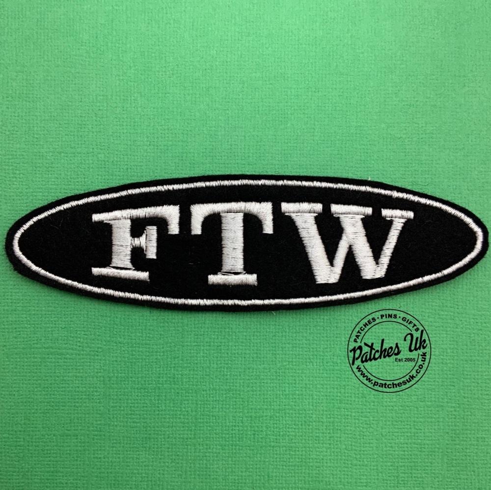 FTW - 1 line oval felt patch #0052