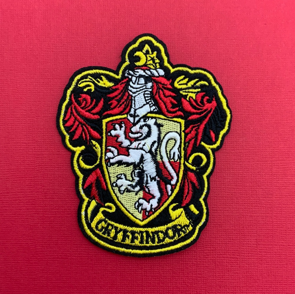 Gryffindor Crest Embroidered Fabric Patch #0089