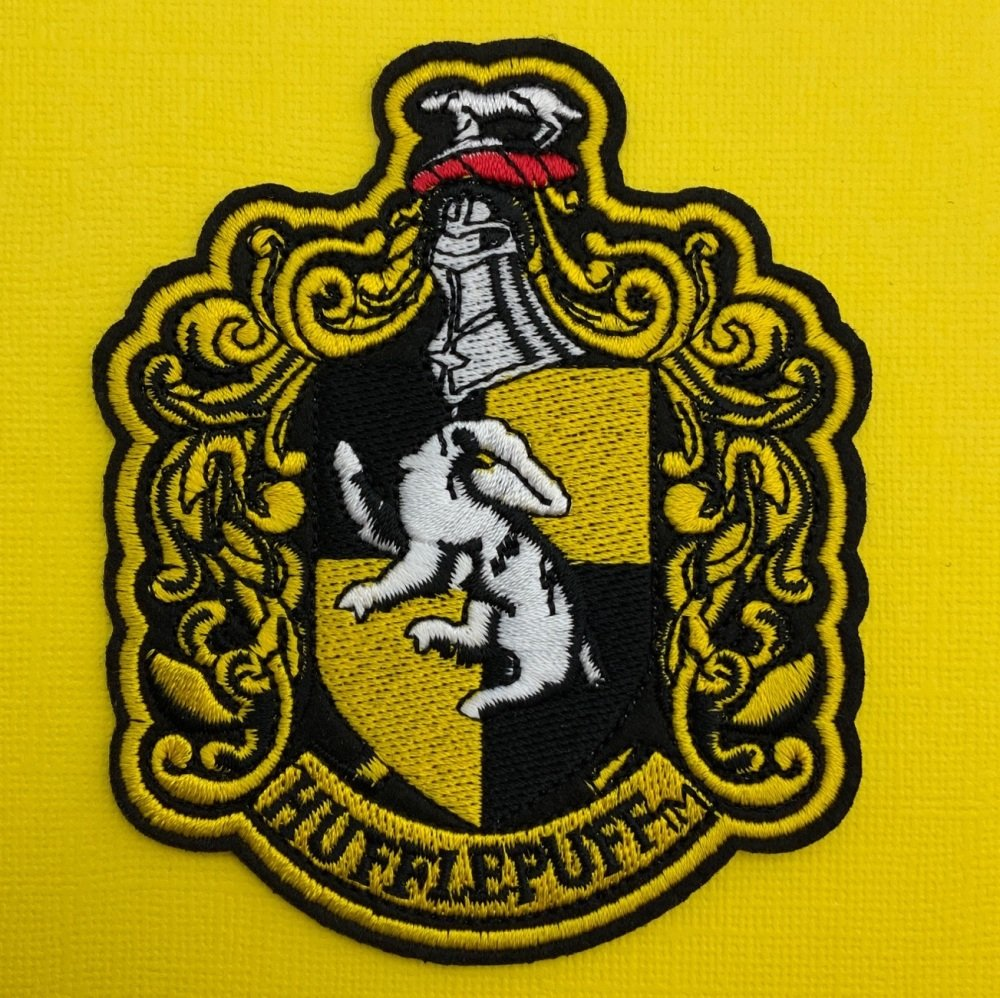 Hufflepuff Crest Embroidered Fabric Patch #0087