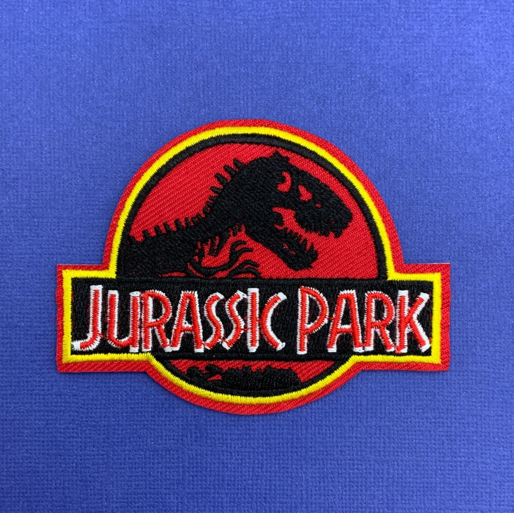 Jurassic Park Embroidered Fabric Patch #0092