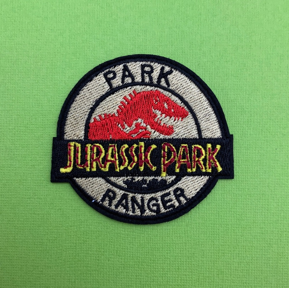 Park Ranger Jurassic Park  Embroidered Fabric Patch #0088
