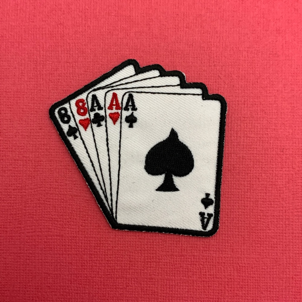 Playing Cards Embroidered Fabric Patch #0114