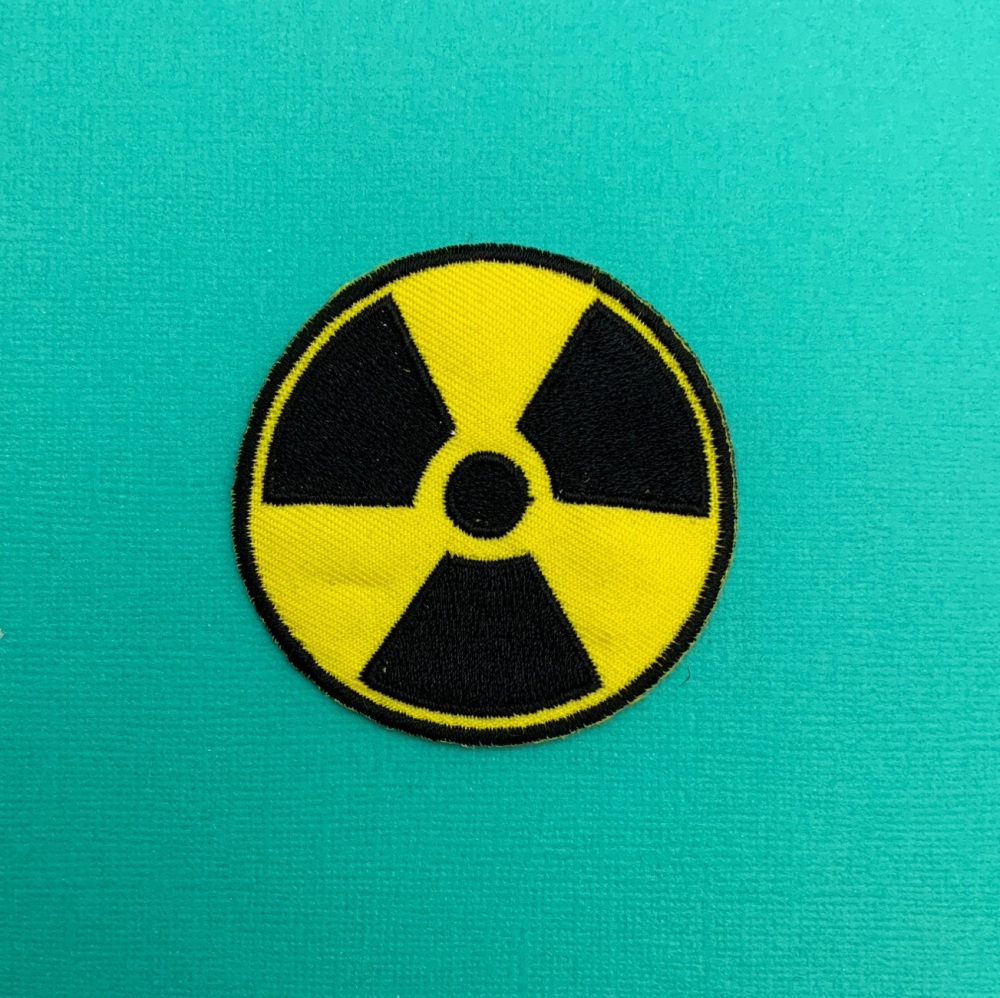 Radioactive Toxic Hazardous Nuclear Waste Symbol Embroidered Patch #0081