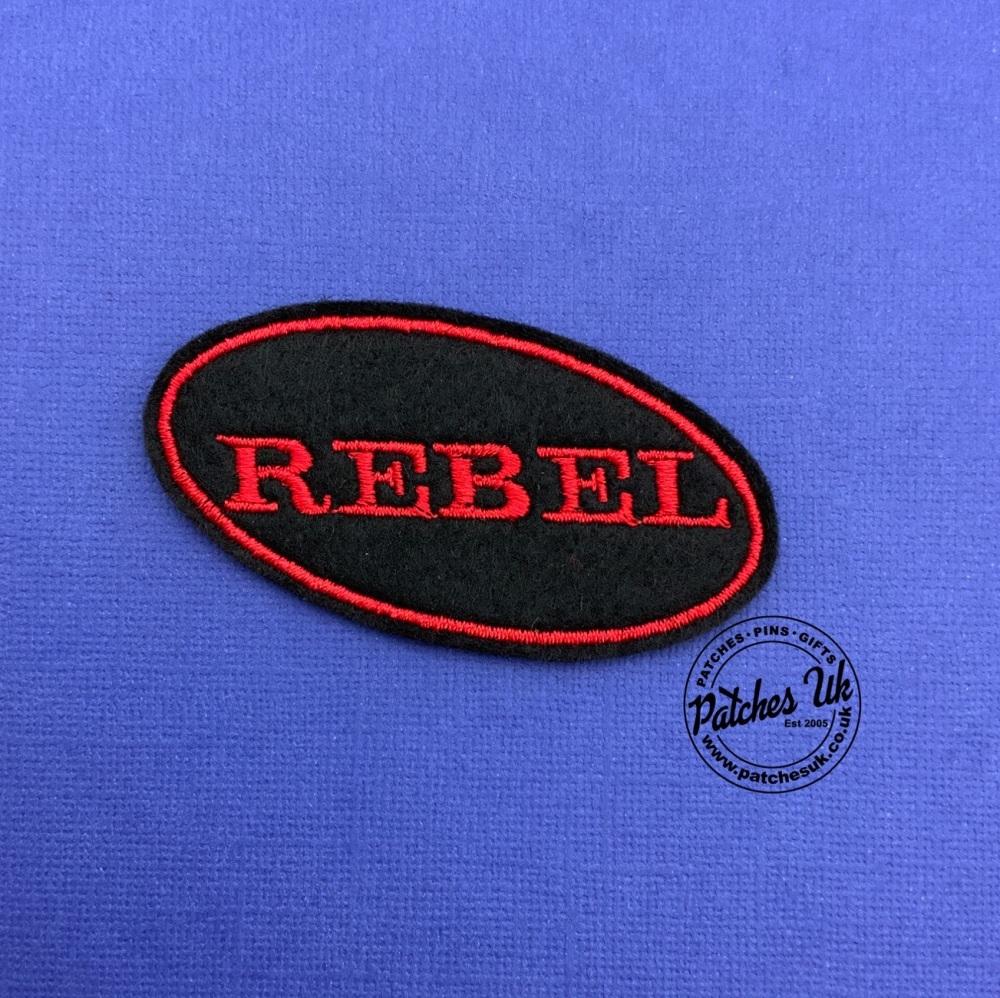 REBEL - Oval felt patch #0051