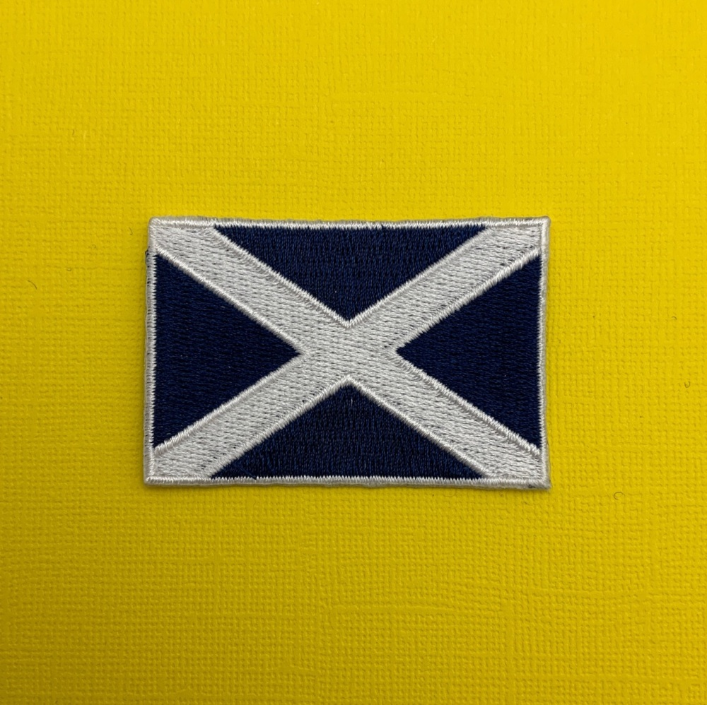 Scottish Flag Embroidered Fabric Patch #0106