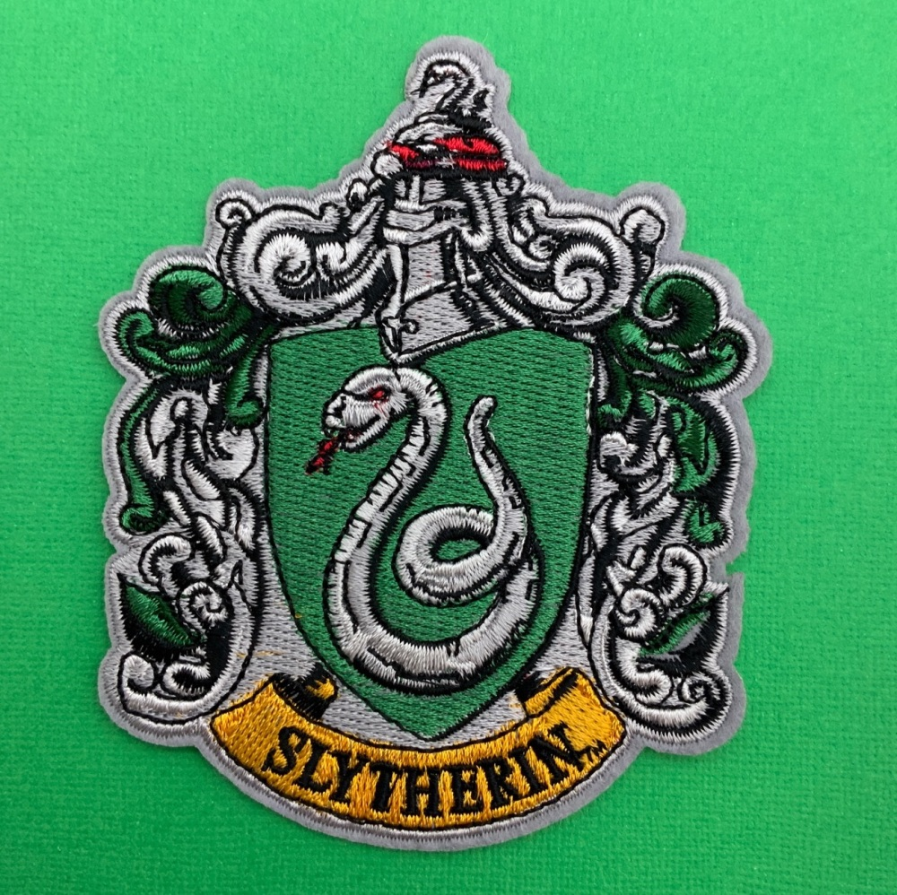 Slytherin Crest Embroidered Fabric Patch #0093
