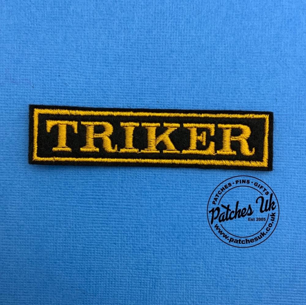 Triker - 1 line embroidered felt patch #0056
