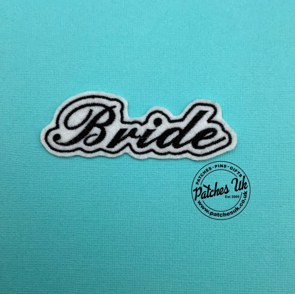 Bride Embroidered Small Patch #0124