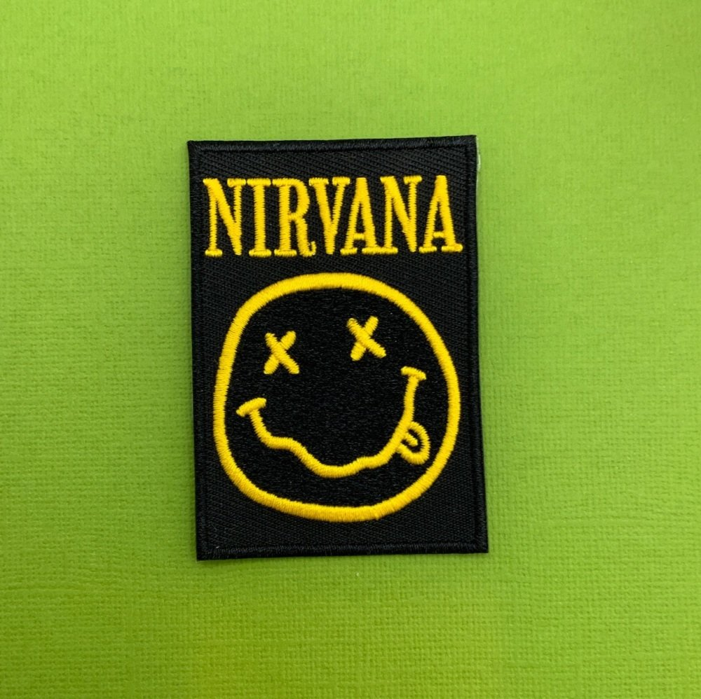 Nirvana Embroidered Fabric Patch Music Band #0111