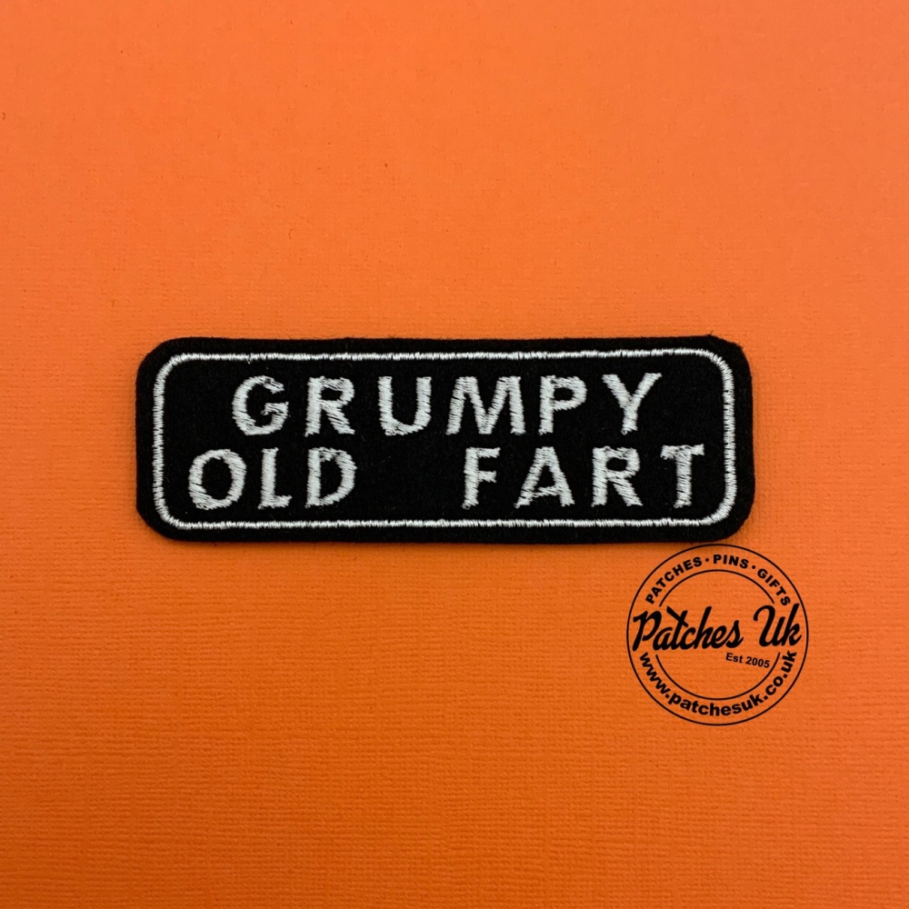 Grumpy Old Fart Biker Embroidered Patch #0129