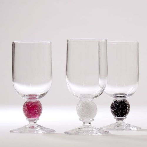 Stellar Wine Glass | cranberry