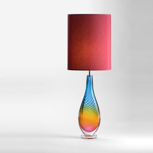 Westmorland  Lamp | Troutbeck | wine shade (lit)