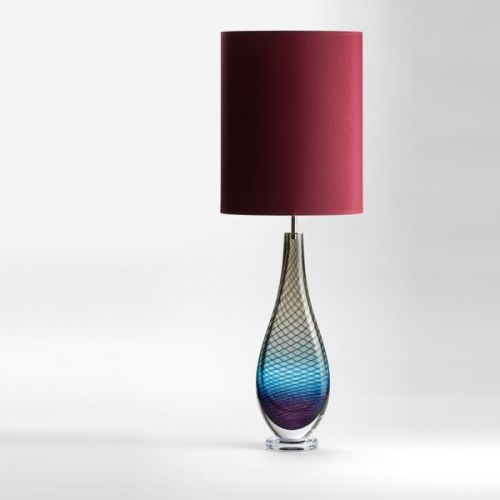 Large Westmorland Lamp | Langdale | wine shade (unlit)