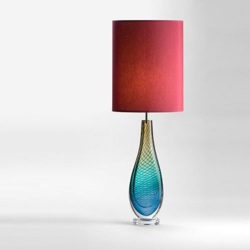 Large Westmorland Lamp | Grizedale | wine shade (lit)