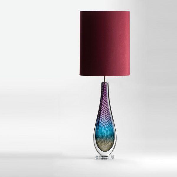 Large Westmorland Lamp | Fairfield | wine shade (unlit)