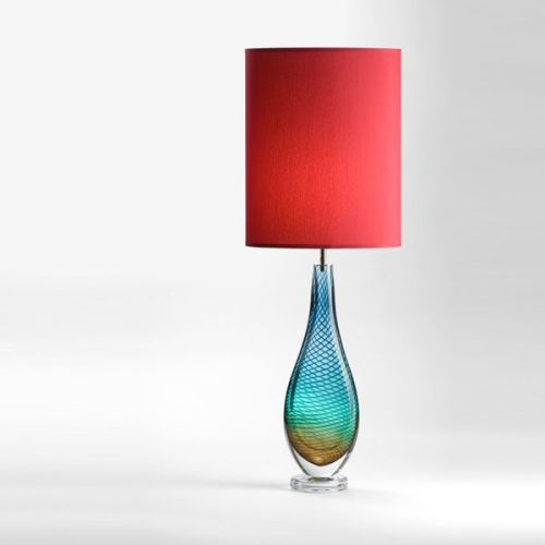 Large Westmorland Lamp | Grasmere | brick shade (lit)