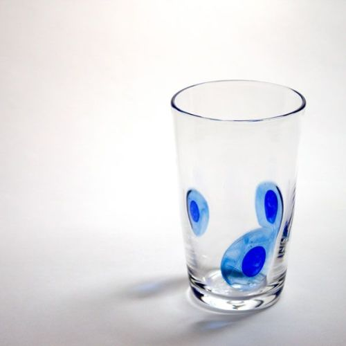 Peacock Tumbler | blue | front view