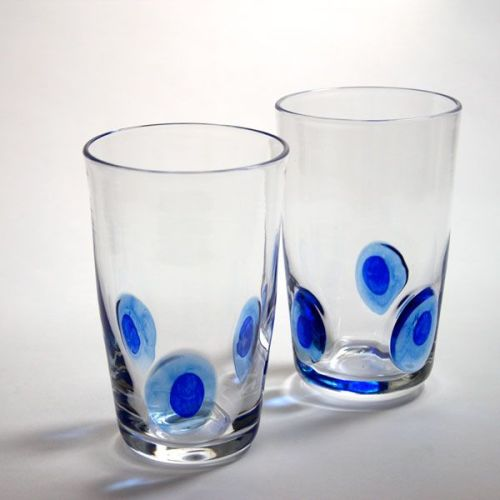 Peacock Tumbler | blue | pair view