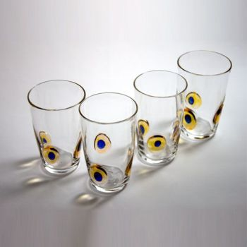 Peacock Tumbler | yellow