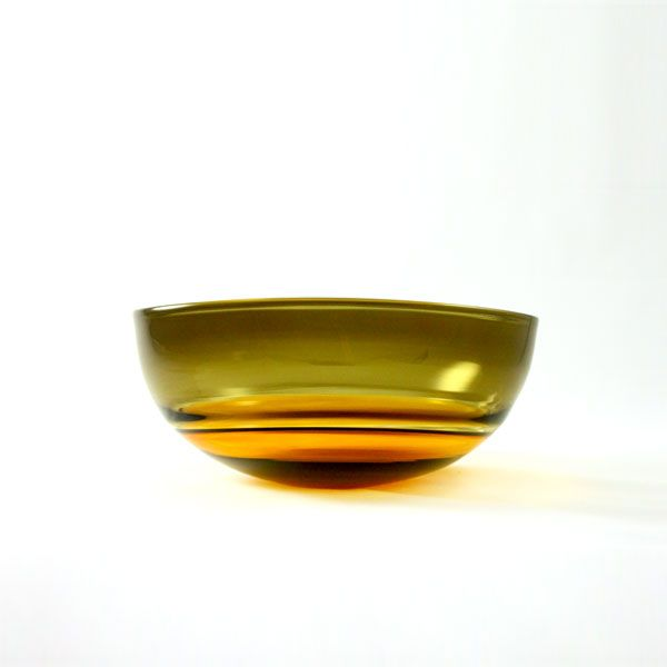 Oval Encalmo Bowl | small | amber & olive