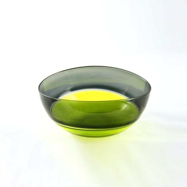 Oval Encalmo Bowl | small | lime & grey