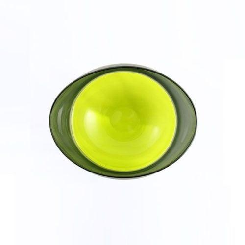 Oval Encalmo Bowl | small | lime & grey