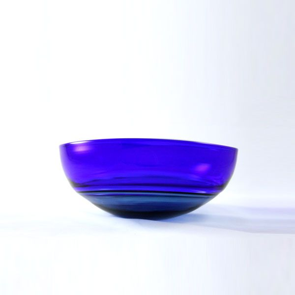 Oval Encalmo Bowl | small | steel & cobalt