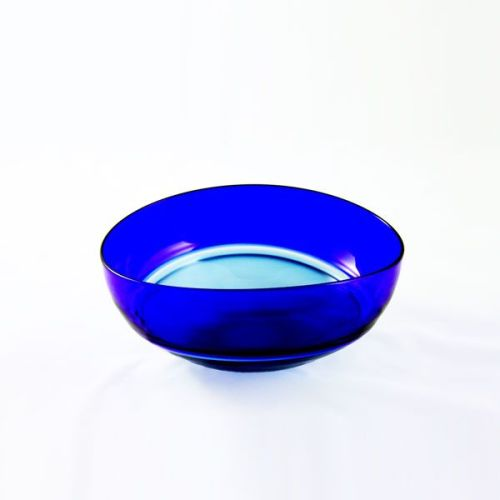 Oval Encalmo Bowl | small | steel & cobalt