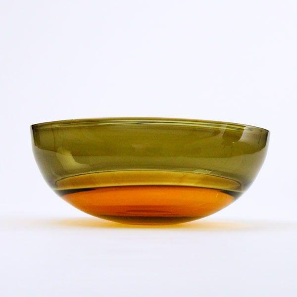 Oval Encalmo Bowl | medium | amber & olive