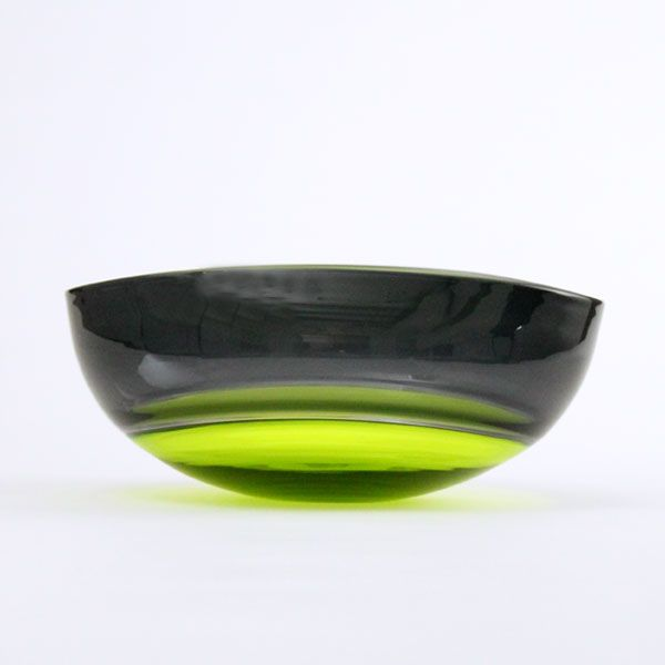 Oval Encalmo Bowl | medium | lime & grey