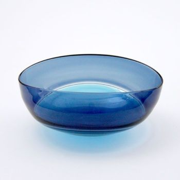 Oval Encalmo Bowl | medium | turquoise & steel