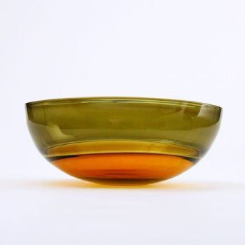 Oval Encalmo Bowl | medium | amber & olive