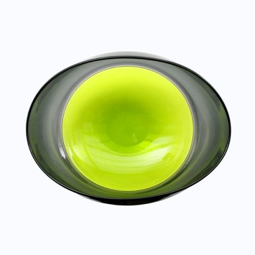 Oval Encalmo Bowl | medium | lime & grey