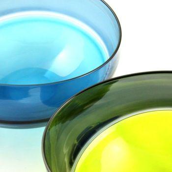 Oval Encalmo Bowl   medium   lime & grey