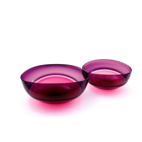 Oval Encalmo Bowl | medium | antique rose & purple
