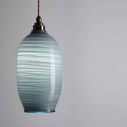 Beehive Pendant | opal dark grey lit