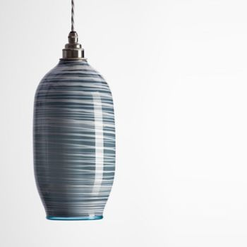 Beehive Pendant | dark opal grey