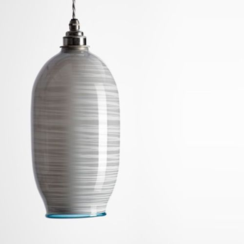 Beehive Pendant | opal soft grey unlit