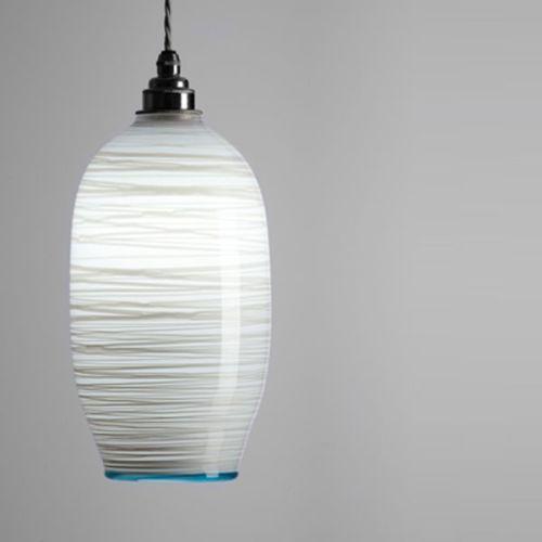 Beehive Pendant | opal white lit