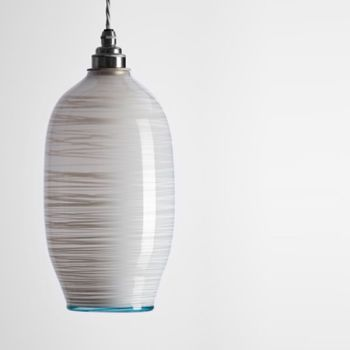 Beehive Pendant | opal white