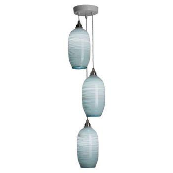 Beehive Pendants | celadon triple lit